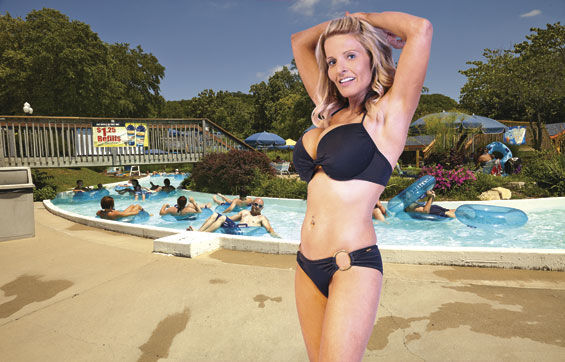 "Shore thang: Would this siren in a two-piece wreck your day at Raging Rivers? The Grafton water park reserves the right to eject customers dressed in ""provocative"" bathing suits."