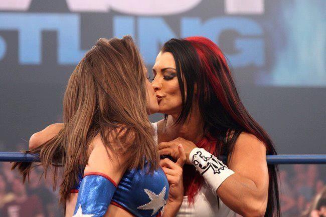 Miss Tessmacher and Tara kiss #3