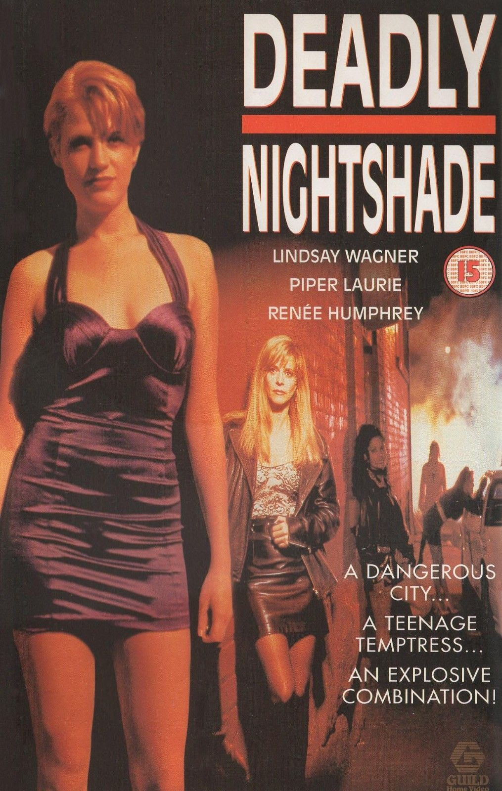 DEADLY NIGHTSHADE 1995 LINDSAY 'Bionic Woman' WAGNER, PIPER LAURIE, RENEE HUMPHREY
