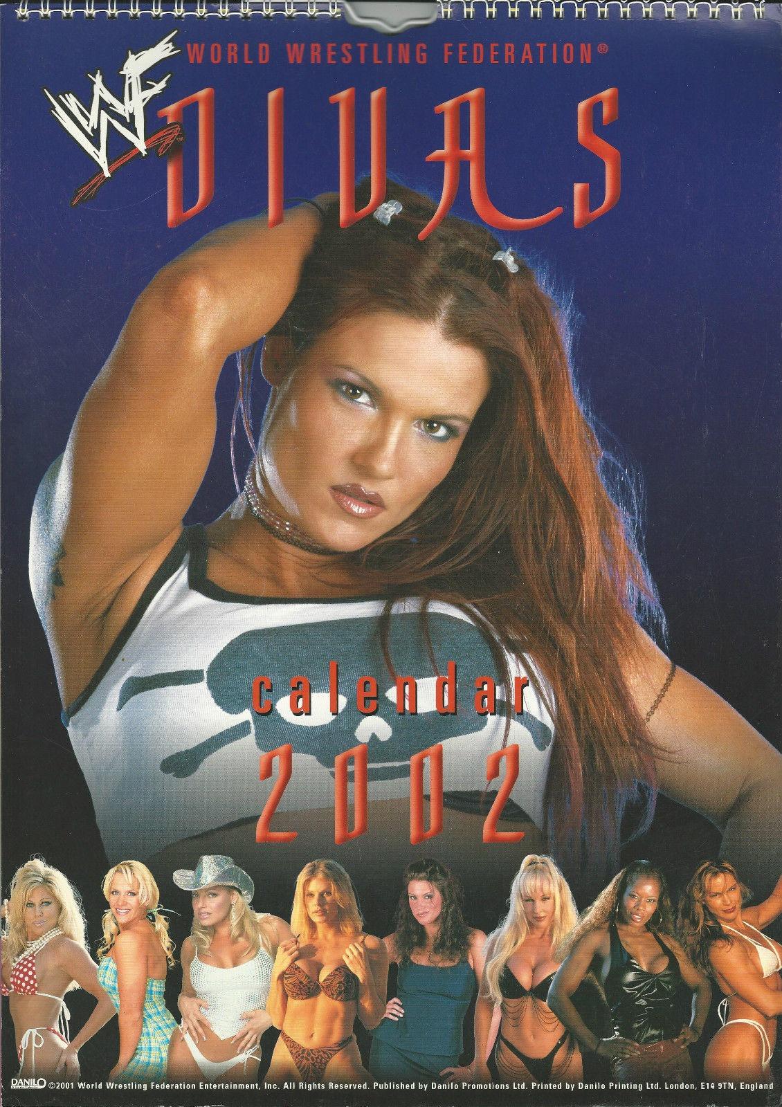 WWE WWF Divas Calendar 2002 Lita Trish Terri Debra Ivory #1